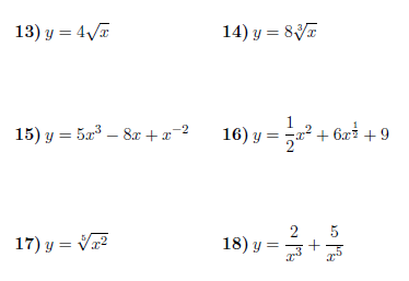 Differentiation - Power, Constant, and Sum Rule worksheet (with ...