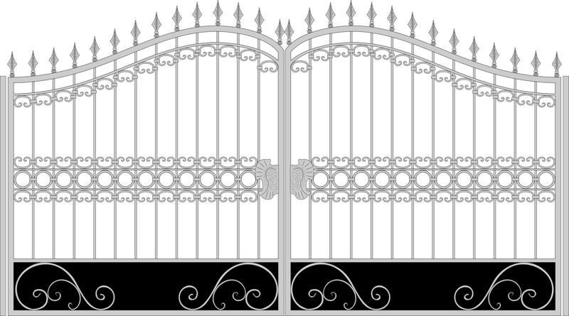 Iron Fancy Gate Boundary Wall Gate Design Free Vector cdr Download