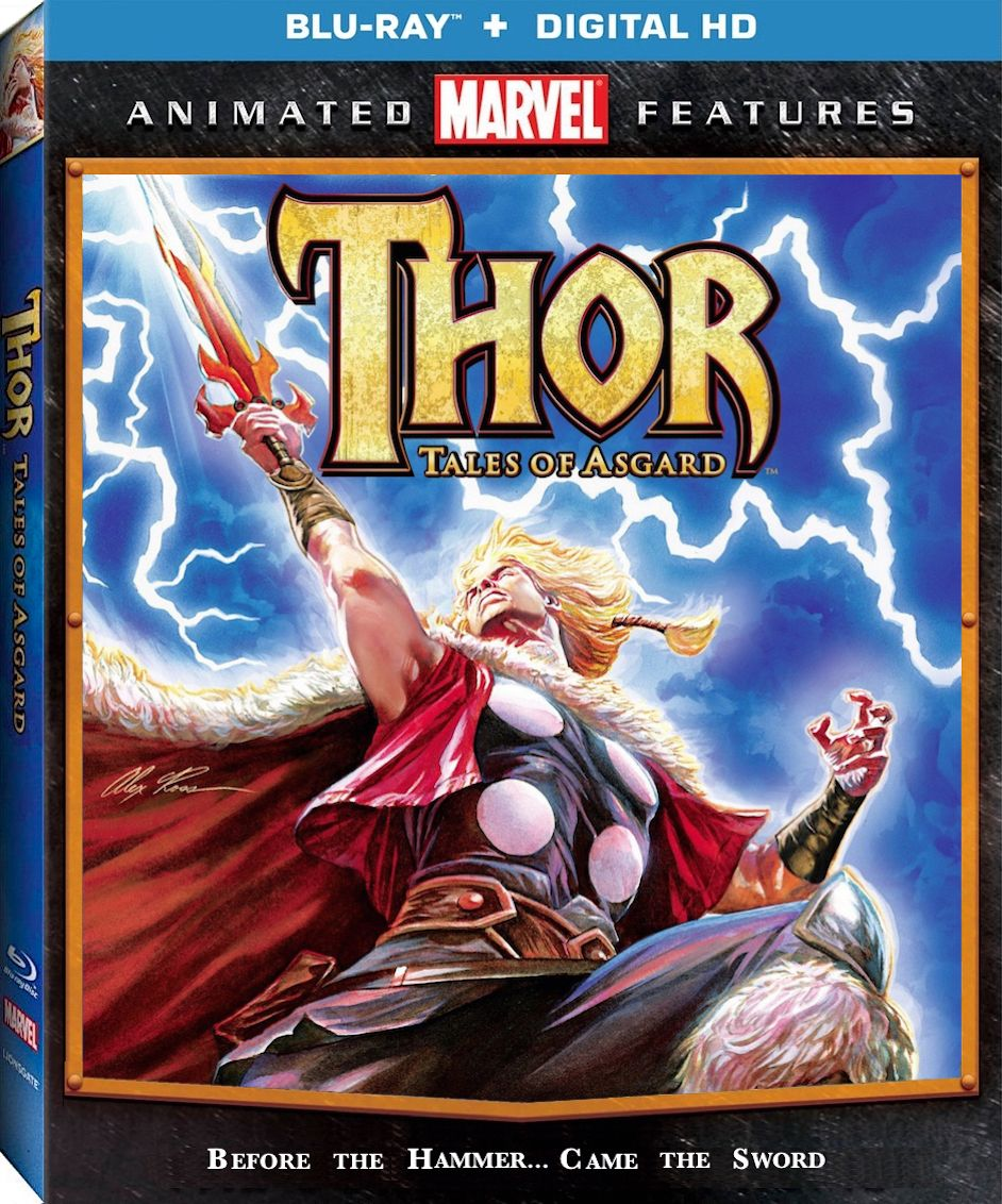 Thor Tales Of Asgard Blu Ray Lionsgate Marvel Animation Watch Thor Animated Movies