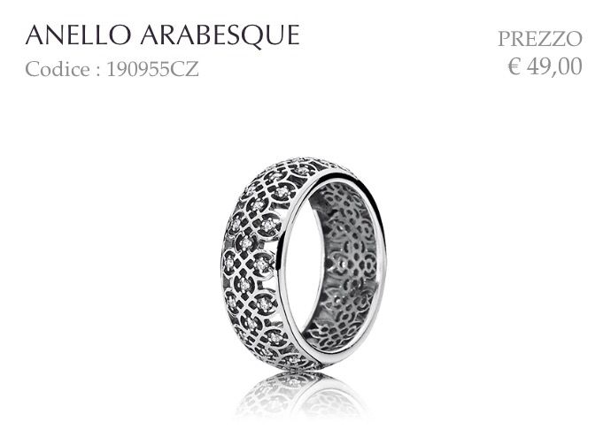 pandora anello arabesque
