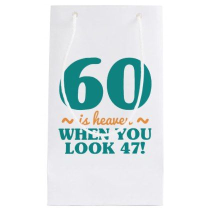 Sassy 60th Birthday Small Gift Bag