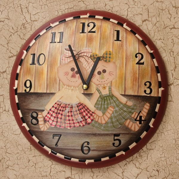 24 99 Wooden Clock Requires 1 Aa Battery Cute Home Decor For Any Room