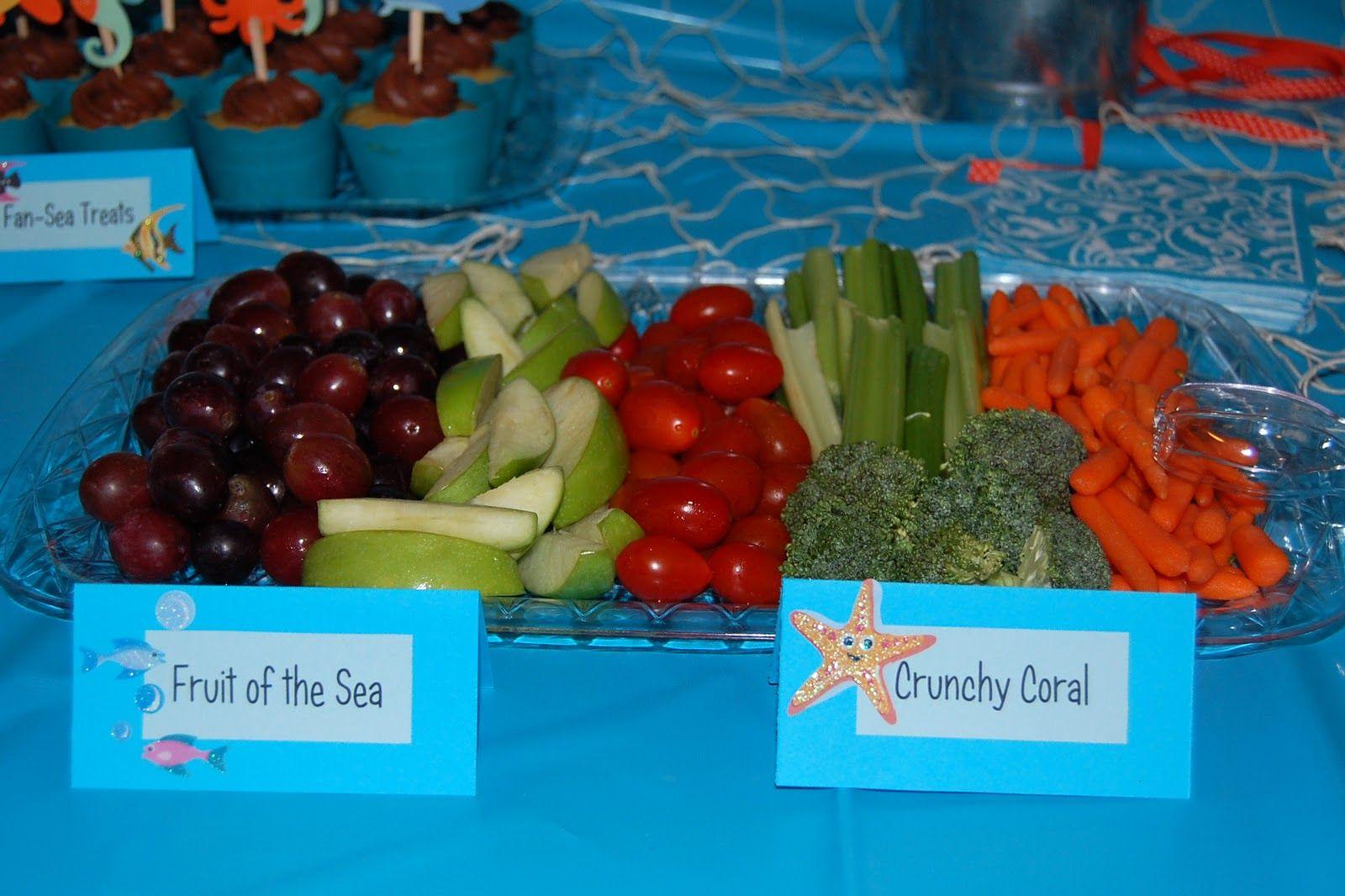 sea birthday party food