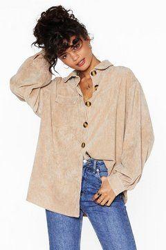 Big Cord and Beautiful Oversized Shirt | Nasty Gal