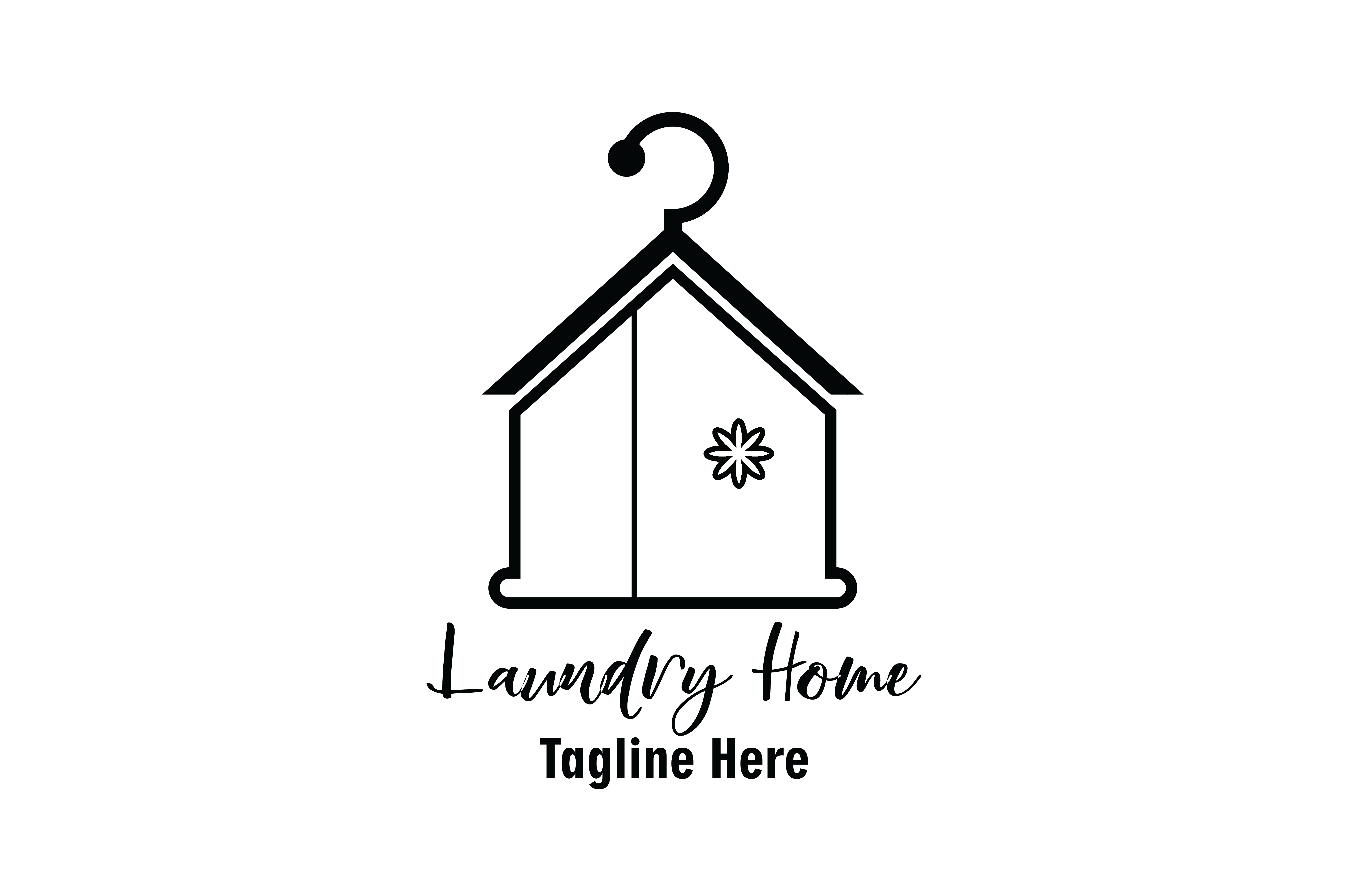 Laundry Home Logo Vector Graphic By Yuhana Purwanti