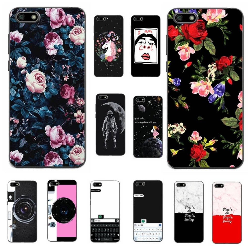 low priced 9f8c7 6eed8 Lovers Vintage Flowers Tropical Style Phone Case For Huawei Honor 7A ...