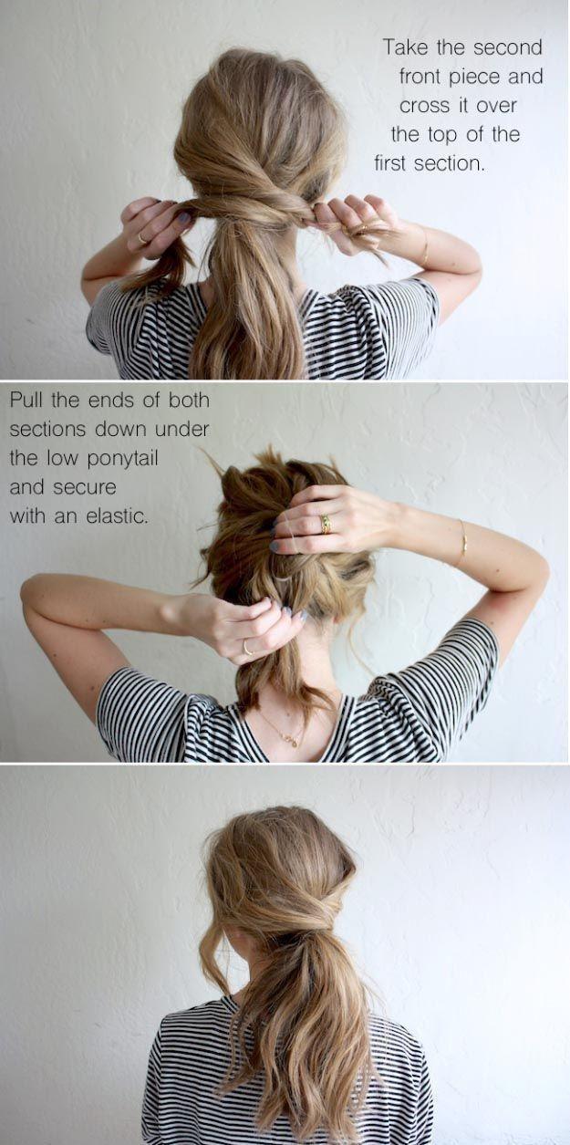 Coiffures rapides mignonnes de luxe pour cheveux courts – Edeline Env. – #approx #edeline …