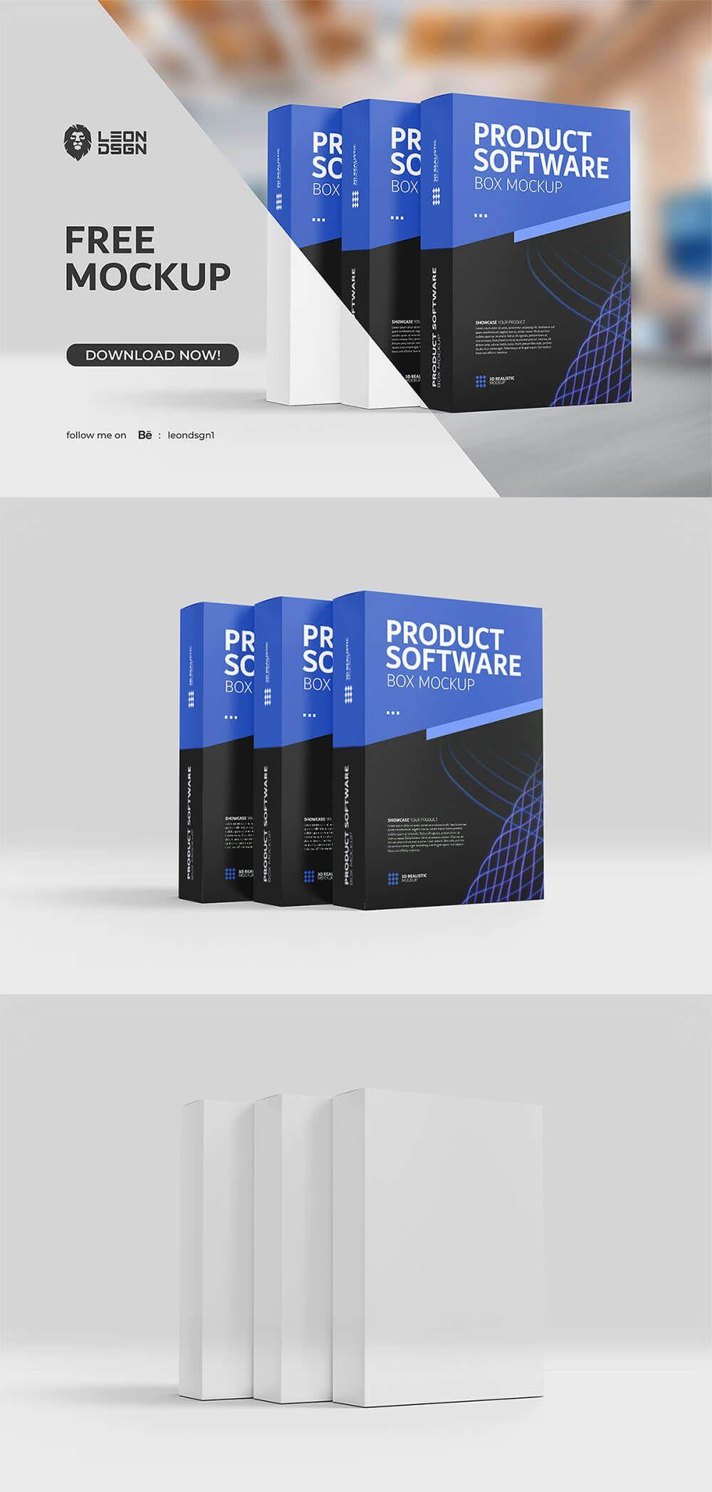 Download Free Product Software Box Mockup Box Mockup Mockup Packaging Box Mockup