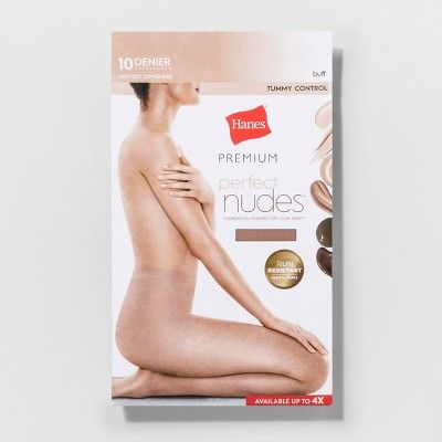 c96370833439b Hanes Premium Women's Perfect Nudes Control Top Silky Ultra Sheer Pantyhose  - Nude 1X/2X, Size: 1X-2X