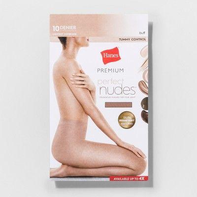 175196bad Hanes Premium Women s Perfect Nudes Control Top Silky Ultra Sheer Pantyhose  - Nude 1X 2X