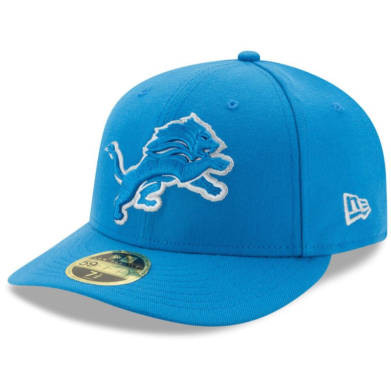 online store 62bd3 87e89 Detroit Lions New Era Omaha Low Profile 59FIFTY Fitted Hat - Blue
