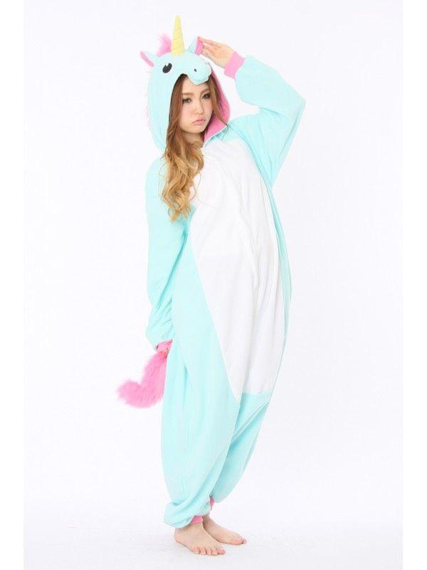 f8ece6eec Blue Unicorn Animal Onesie | fashion | Onesie pajamas, Onesie ...