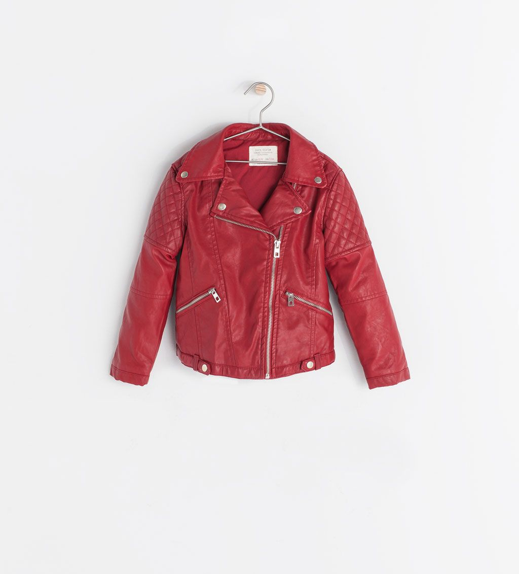 Image 1 Of Faux Leather Jacket From Zara Girls Jacket Jackets Clothes [ 1132 x 1024 Pixel ]