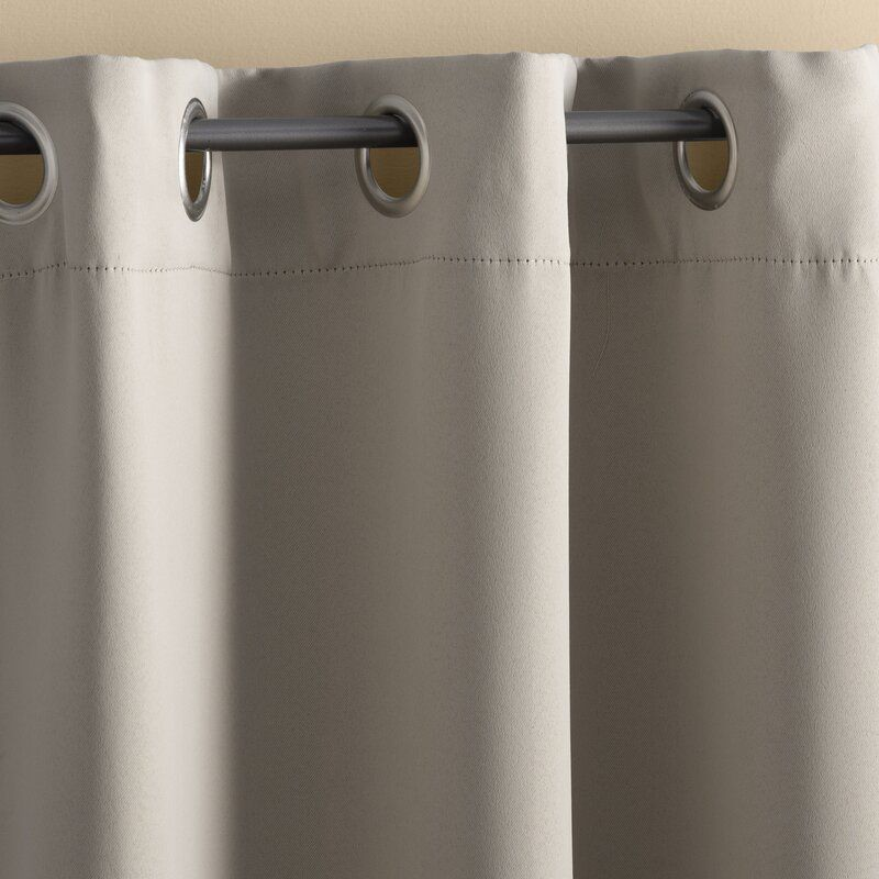 Basics Solid Blackout Grommet Single Curtain Panel In 2020