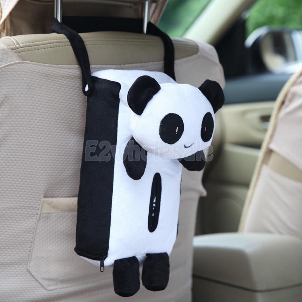 Cute Panda Design Home Office Tissue Box Cover Paper Holder Car Accessory