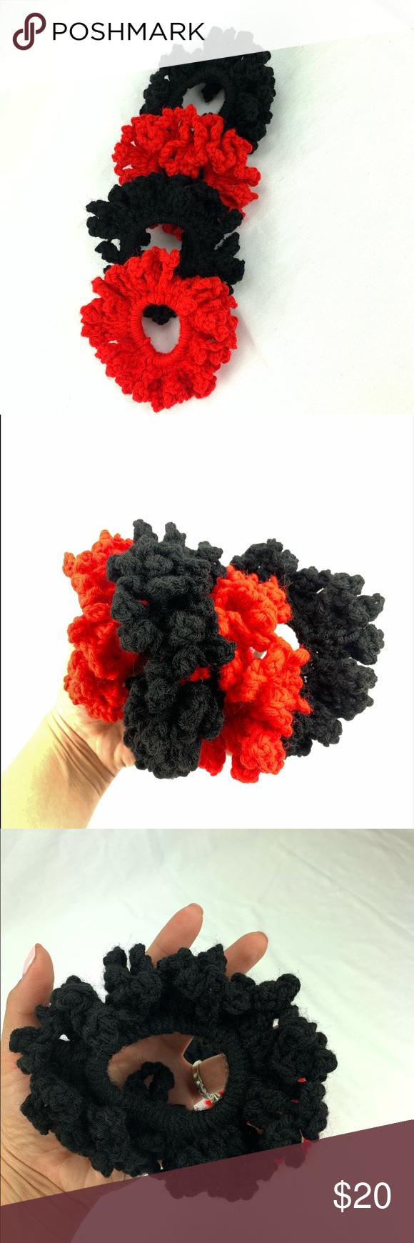 Set of 4 Handmade Crochet scrunchies - maximum stretch -XL Scrunchies -Handmade Accessories Hair Accessories #crochetscrunchies Set of 4 Handmade Crochet scrunchies - maximum stretch -XL Scrunchies -Handmade Accessories Hair Accessories #crochetscrunchies