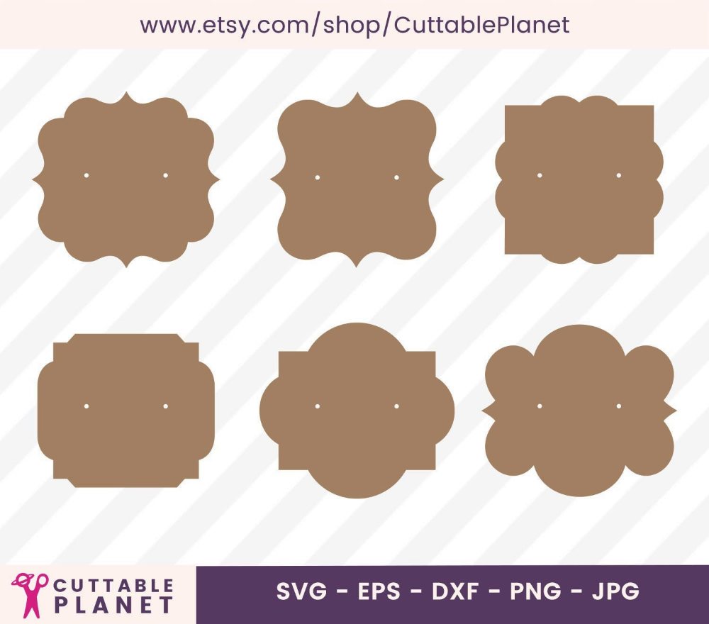 Earring Card Vintage Set Svg Dxf Eps Png Jpg Instant Download Earring Cards Template Earring Cards Display Cards