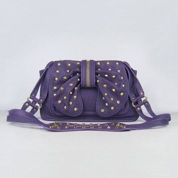 3.1 Phillip Lim bowknot rivets female bag purple sheepskin single shoulder bag