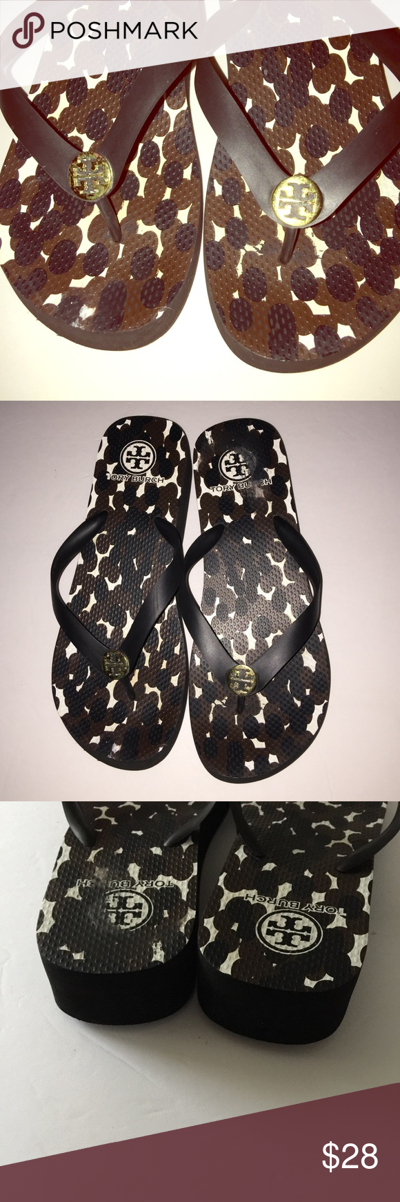 eb2a5ae7b941 Tory Burch Platform Flip Flops Authentic in Good Used Condition