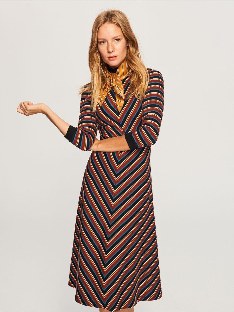 Proužkované šaty - vícebarevná - TY353-MLC - RESERVED  215857f340a