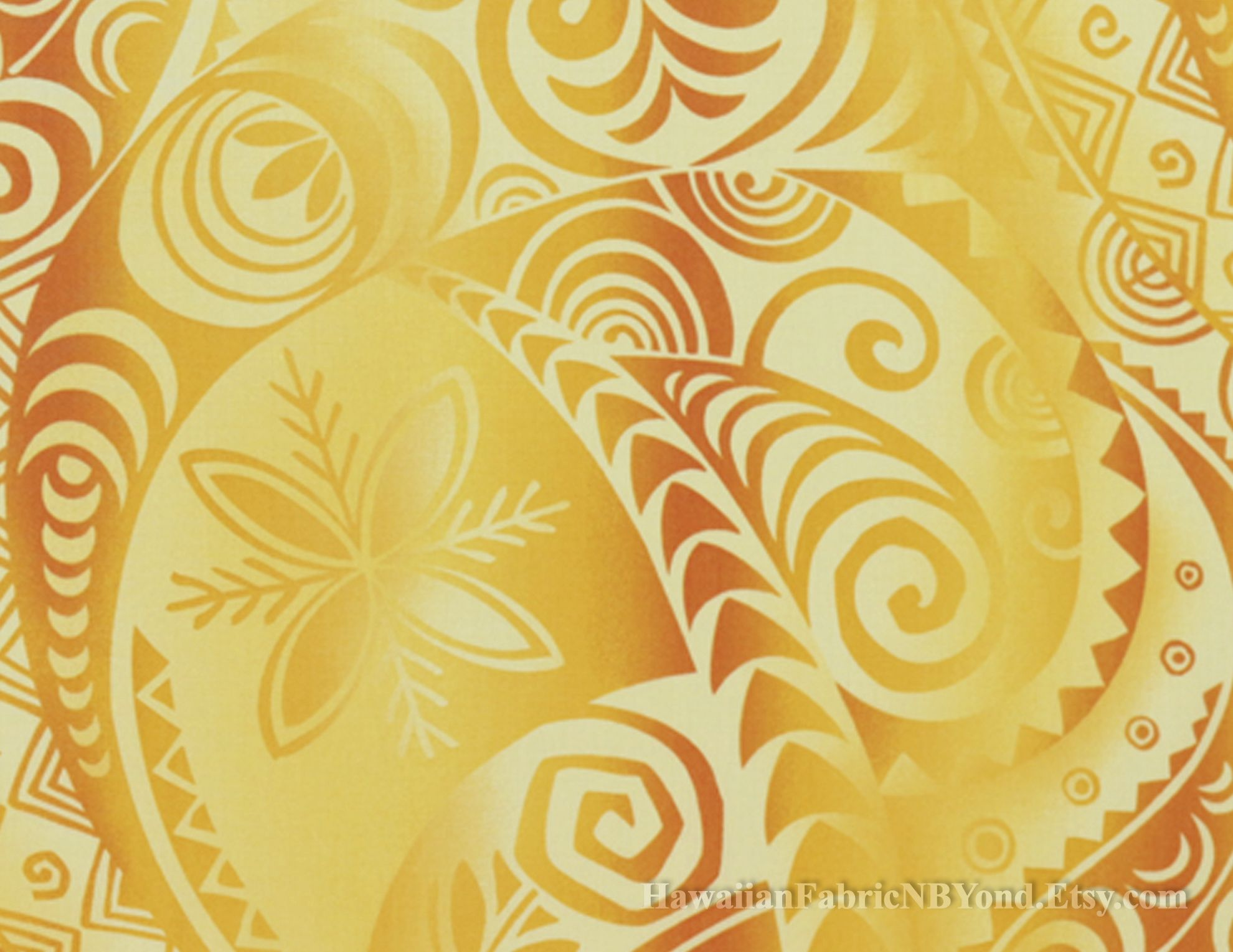 Tribal fabric: Polynesian tapa tattoo patterns and floral. Check it ...