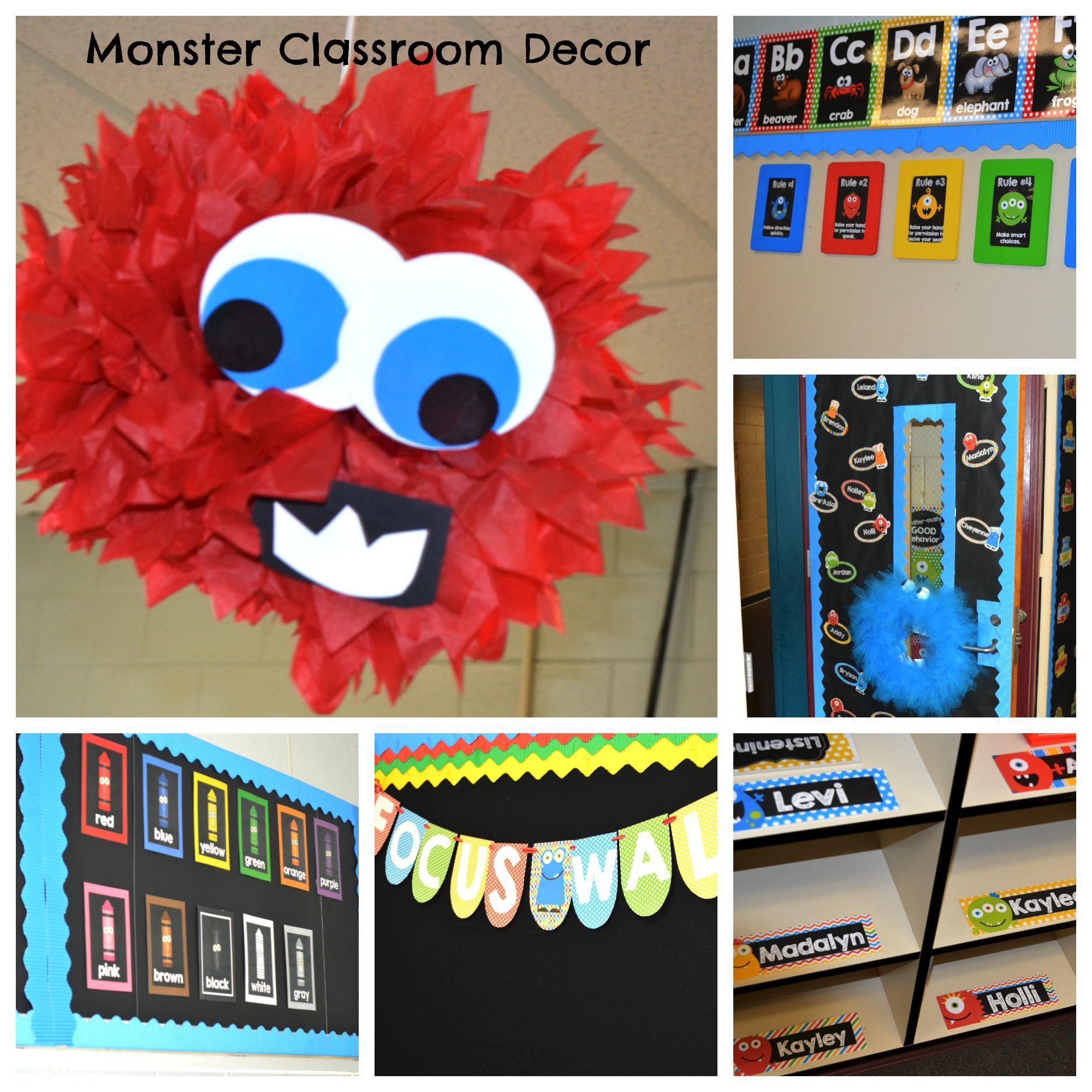 Classroom Decor Items ~ Monster classroom decor bundle elementary educators