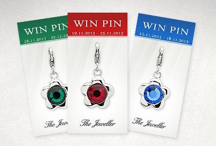 Entdecke unsere Win Pin Aktion: Jede Woche ein tolles Schmuckstück auf unserem Win Pin Board. Alle Infos findest Du auf dem Link des jeweils aktuellen Win Pins.