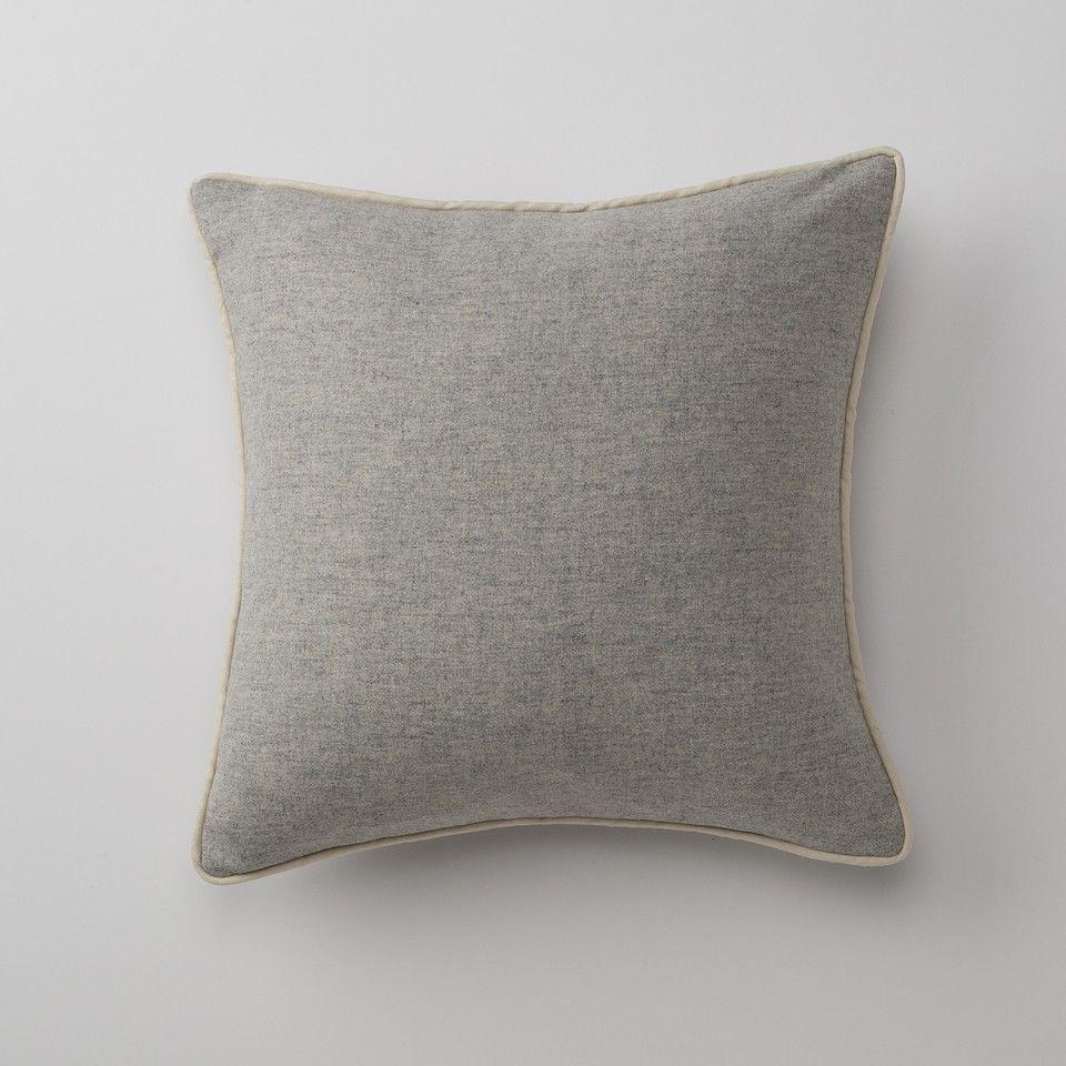 Gray classic piped pillow throw pillows bed pillow beds and throw
