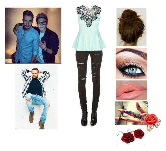 """""""Landon, can you come to something with me? -Zoe"""" by taylor-styles16 ❤ liked on Polyvore featuring Yves Saint Laurent, City Chic, Mawi and Payne"""