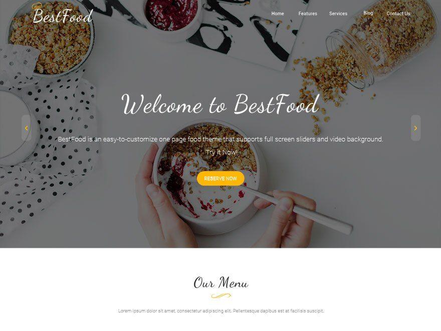 Free Best Food WordPress Theme | Food themes, WordPress theme ...