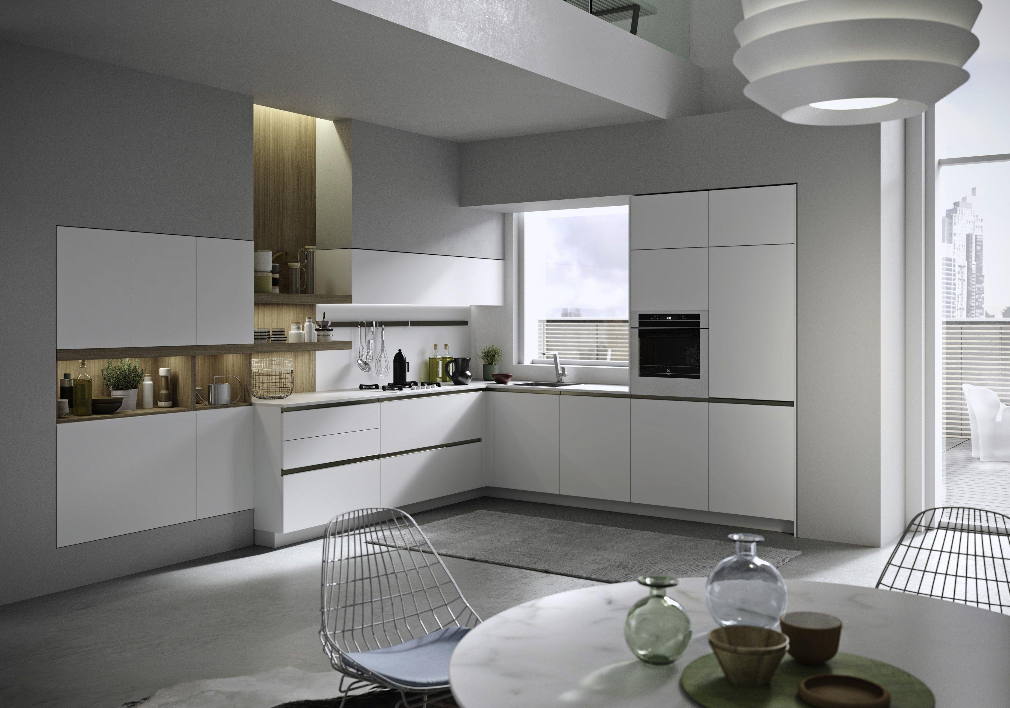 Cocina Integral Con Tiradores Integrados JOY By Snaidero Diseño Snaidero