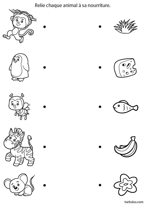 Top Relier les animaux à leur nourriture, le singe, l'abeille, le  NW68