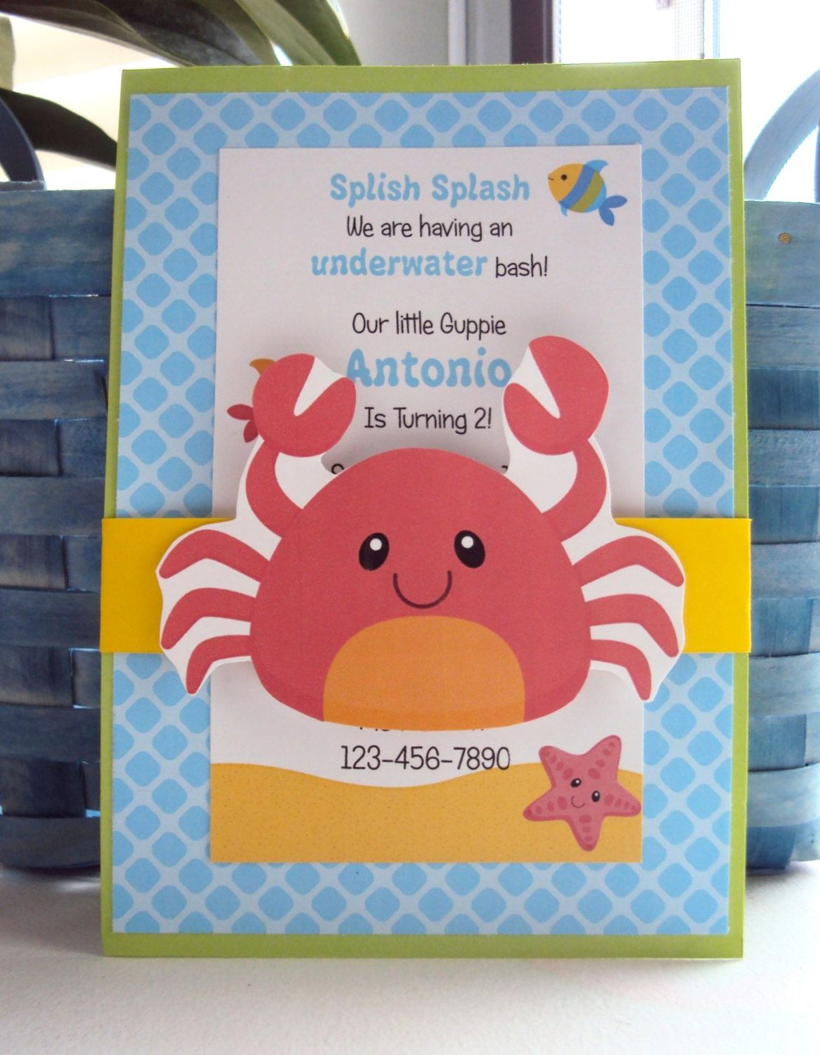 Under The Sea Birthday Invitation Girl by AnchorBlueDesign, $12.00 ...