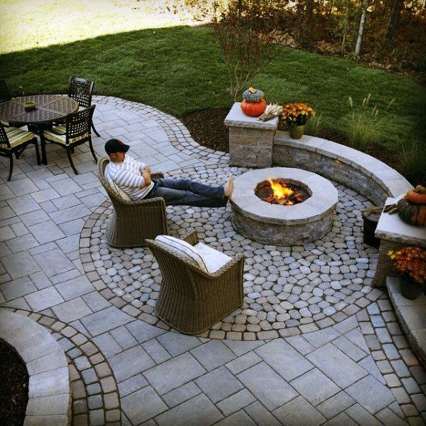 Top 60 Best Paver Patio Ideas - Backyard Dreamscape Designs #patiodesign