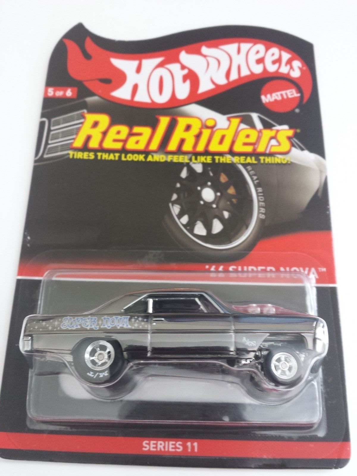 Hot Wheels Oil Can Wagon Wheel Series Orange//Black /'57 Chevy Nomad w//Real Riders
