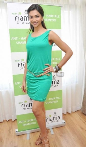 Deepika Padukone Green Cocktail Dresses