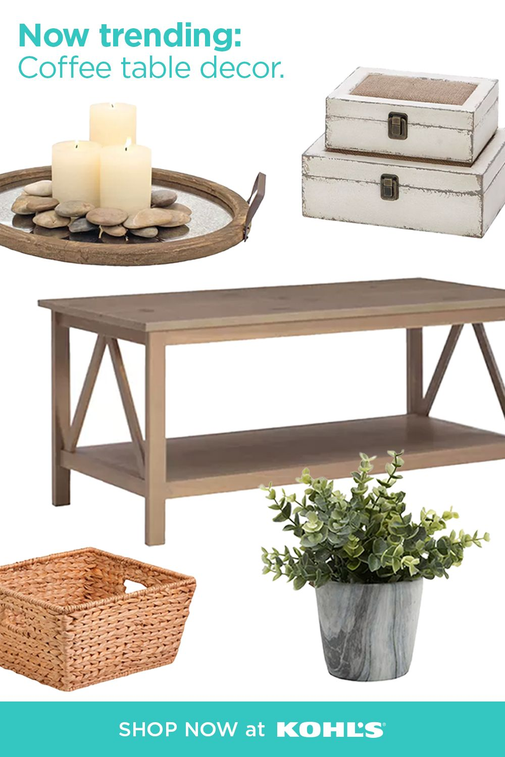 Find Stylish Coffee Table Must Haves At Kohl S Decor Modern Southwest Decor Home Decor [ 1500 x 1000 Pixel ]