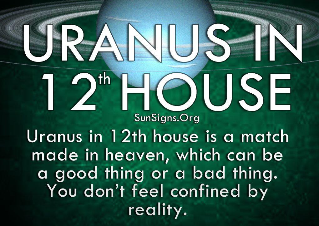 Uranus In 12th House Meaning Sun Signs Uranus Astrology Uranus In 12th House