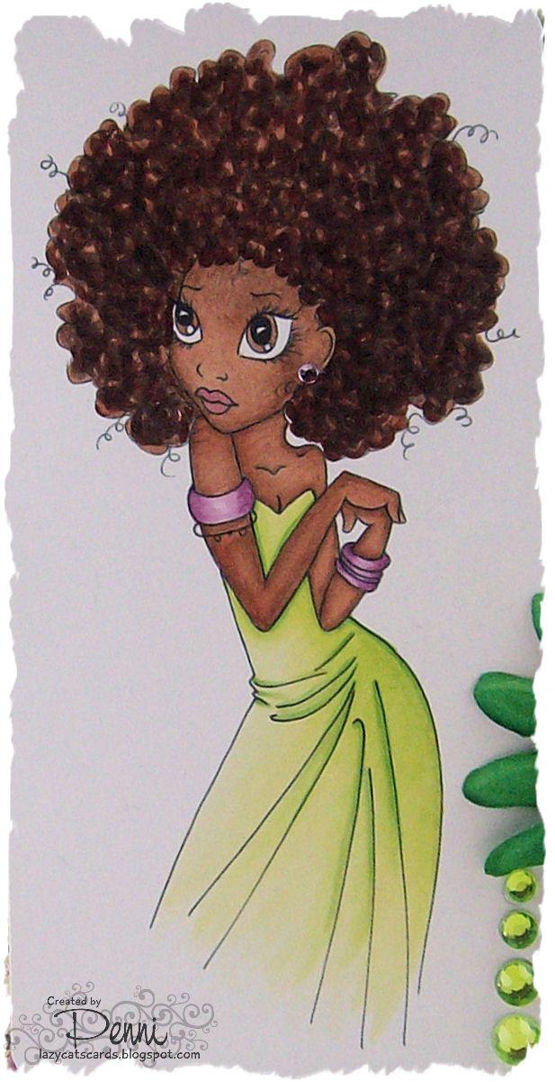 Afro haare zeichnen