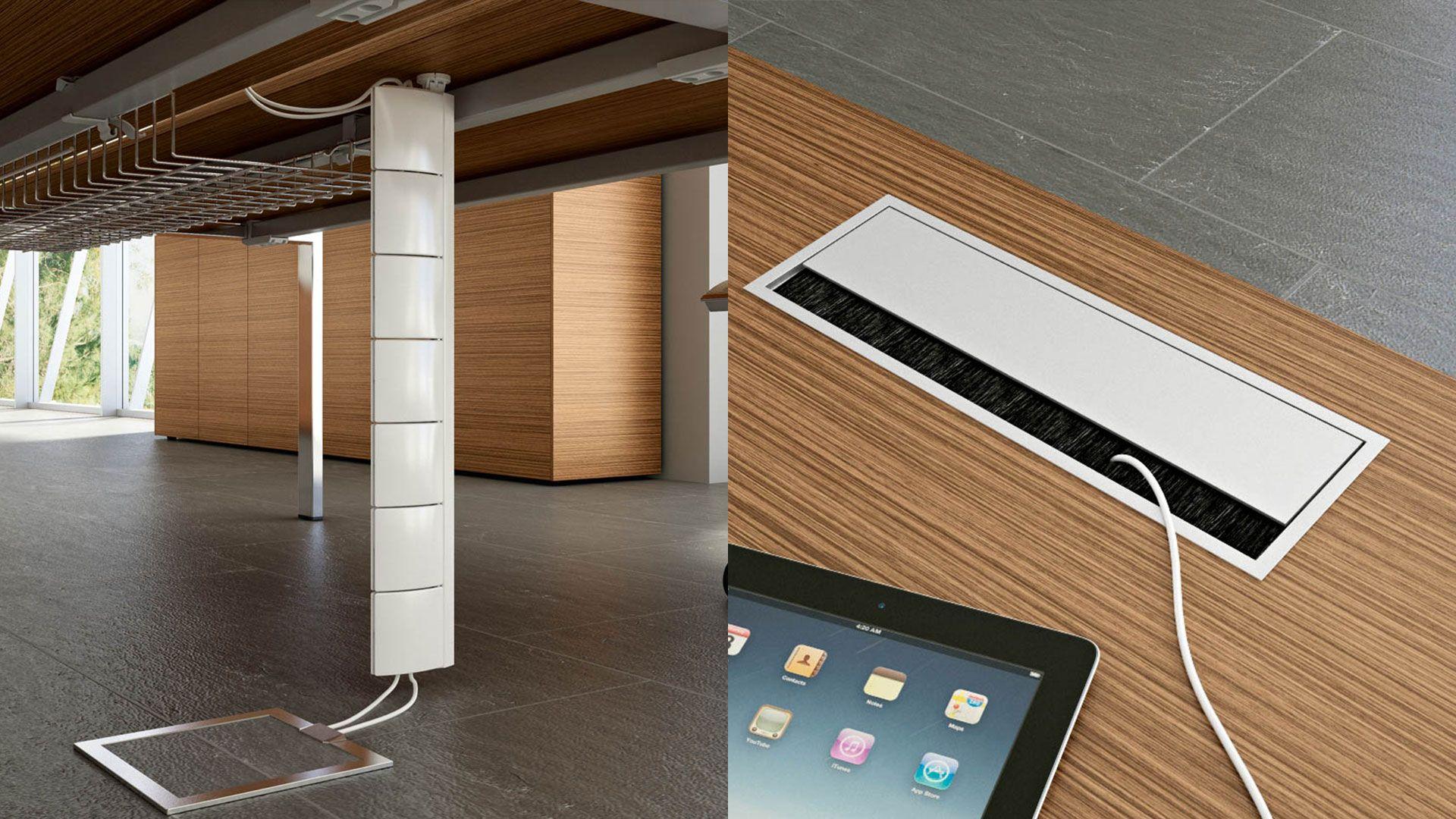 chefschreibtisch chefb ro schreibtisch mit kabelkanal und horizontalen kabelf hrungen kabelkanal. Black Bedroom Furniture Sets. Home Design Ideas