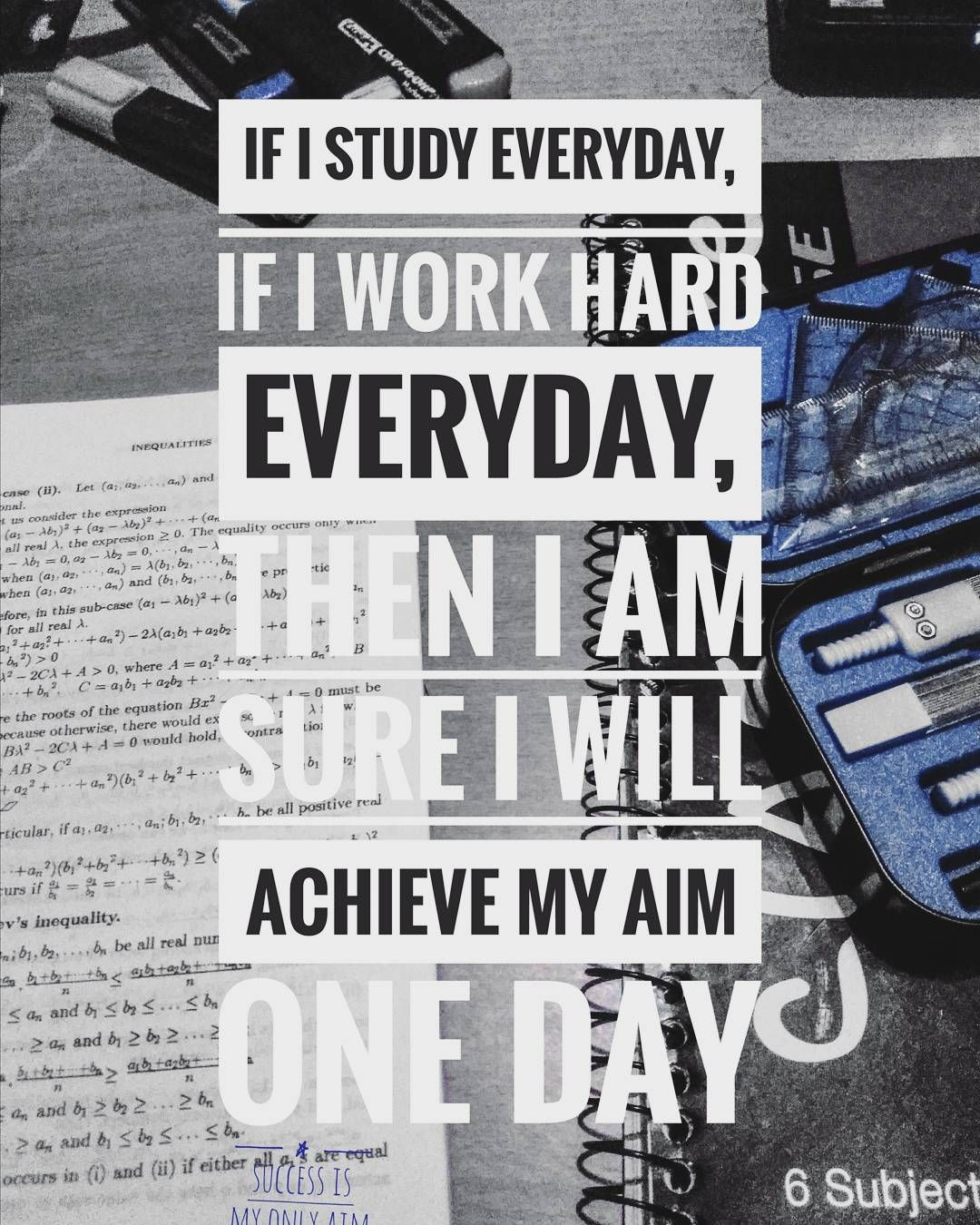 I Will Work Hard Everyday Follow At Motivation2study