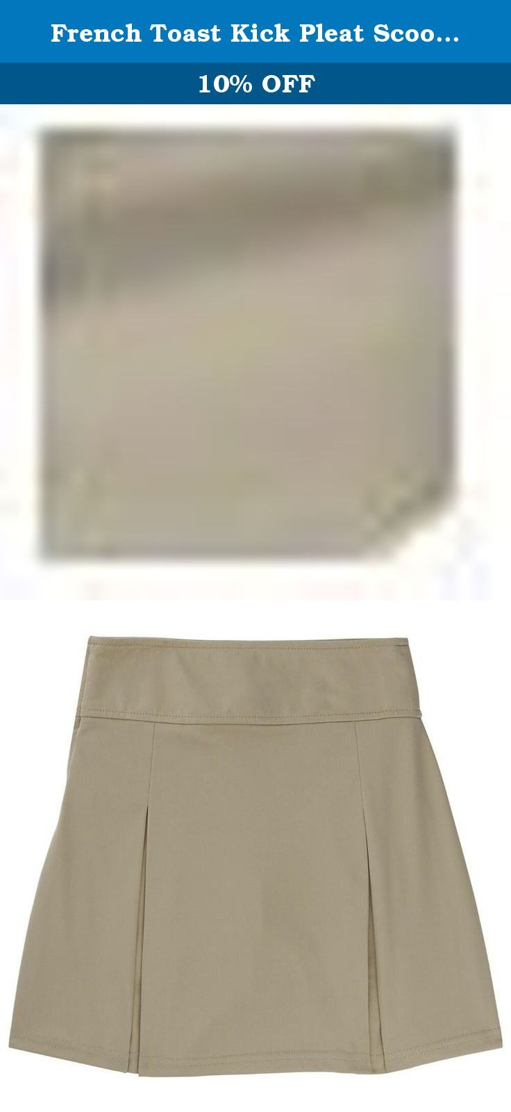 eb2a2e6c96 French Toast Kick Pleat Scooter Girls Khaki 13 Jr. This is a practical skirt  that