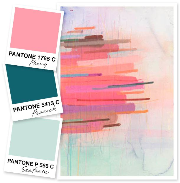 Jessi Lawson Artist I Love The Bright Colors: Pink, Teal And Seafoam Color Palette