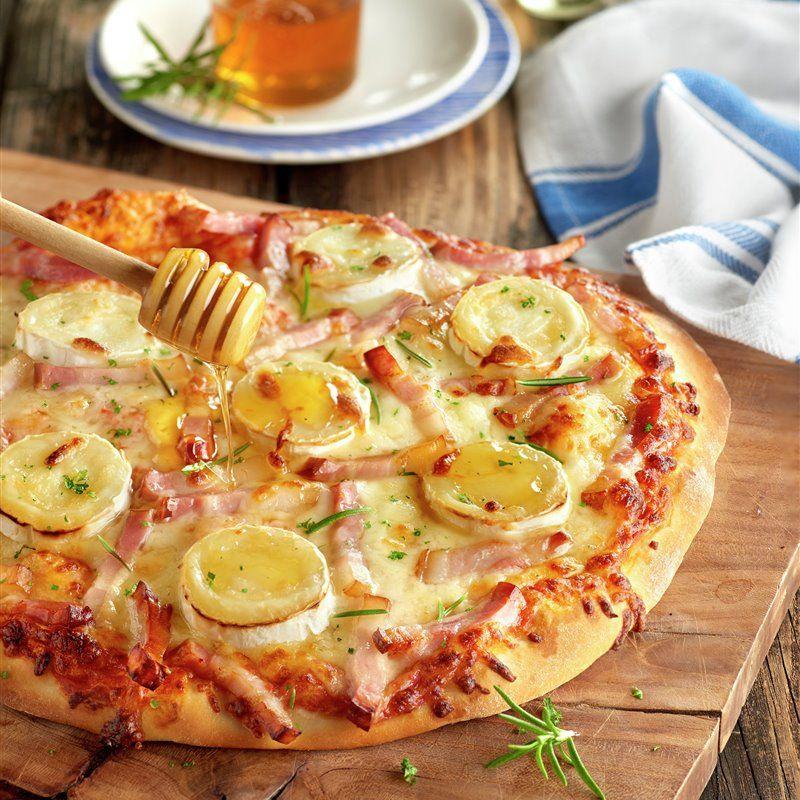 Pizza De Queso De Cabra Y Beicon Con Un Toque De Miel Receta