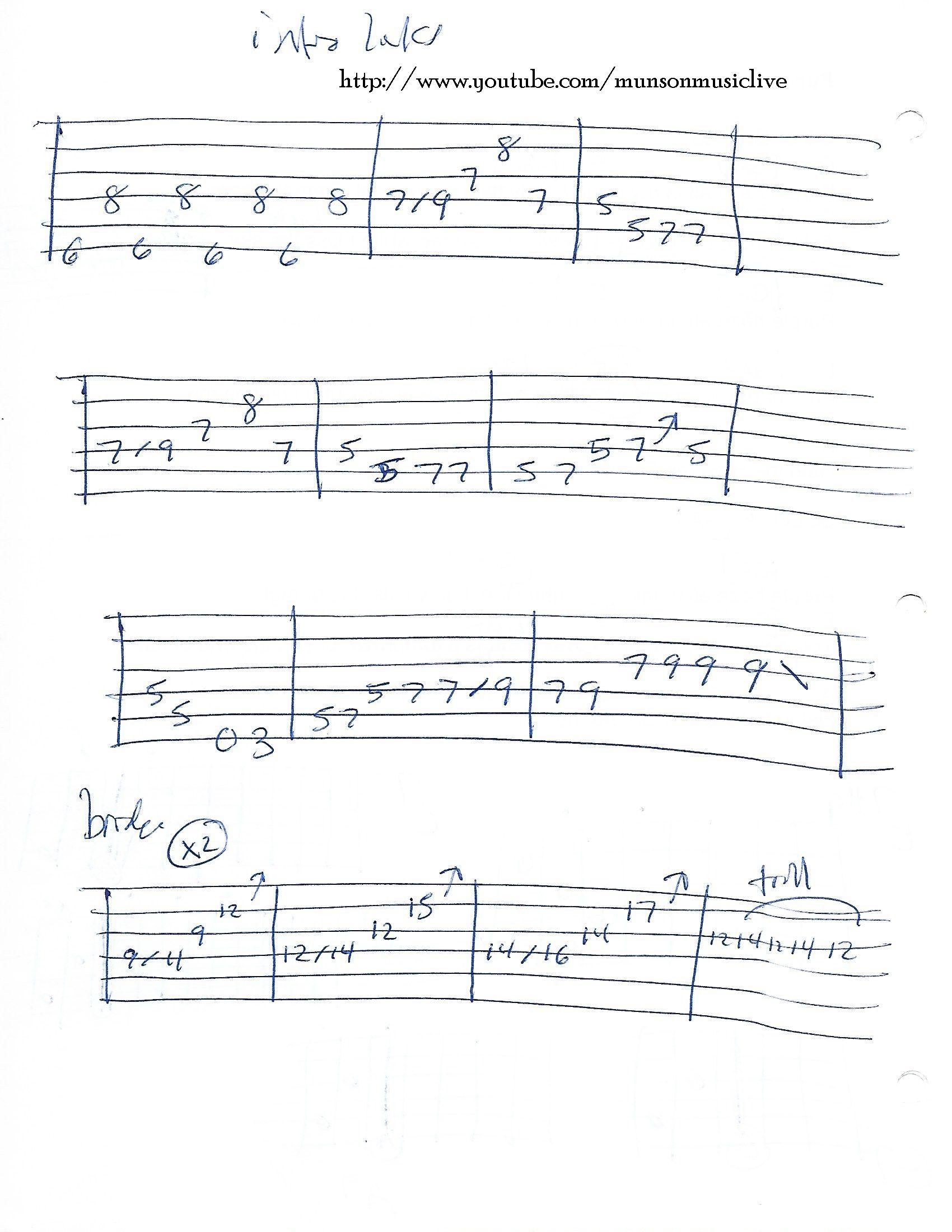Purple Haze Guitar Tab Intro Guitar Lesson Chord Charts
