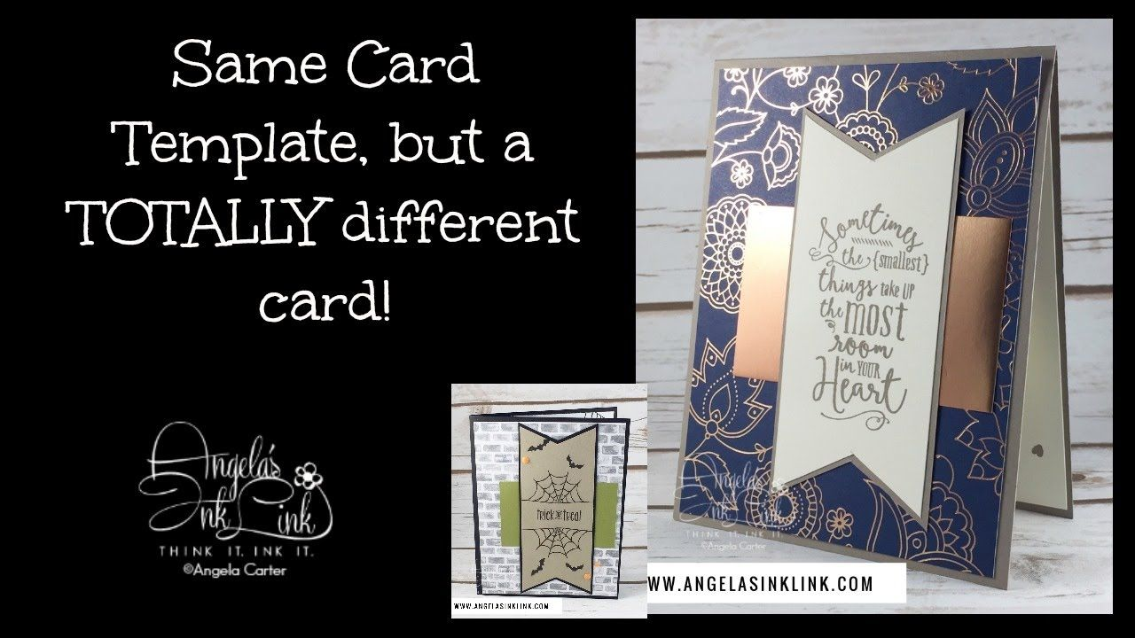 Same template but totally different card. From Angela Carter ...