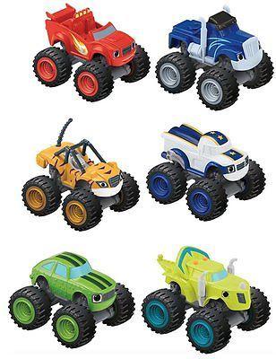 Blaze Amp Monster Diecast Trucks Lot 6 Crusher Stripes Zeg