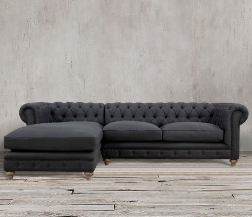 Details About New Grand Sofa Horchow Velvet Modern Chesterfield