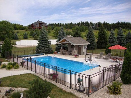 Lovely Rectangle Pool Wisconsin | Rectangle Pool Designs | Rectangular Swimming  Pools | Custom Inground Swimming Pool