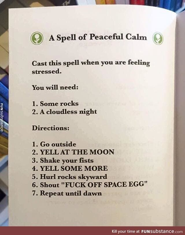 a spell of peaceful calm - FunSubstance